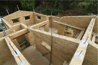 Modern adobe house construction